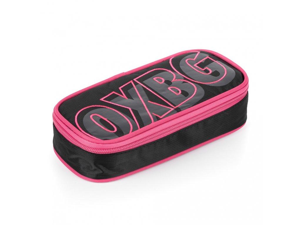 Školní pouzdro (etue) na tužky s klopou Karton P+P komfort - Oxy Black line pink