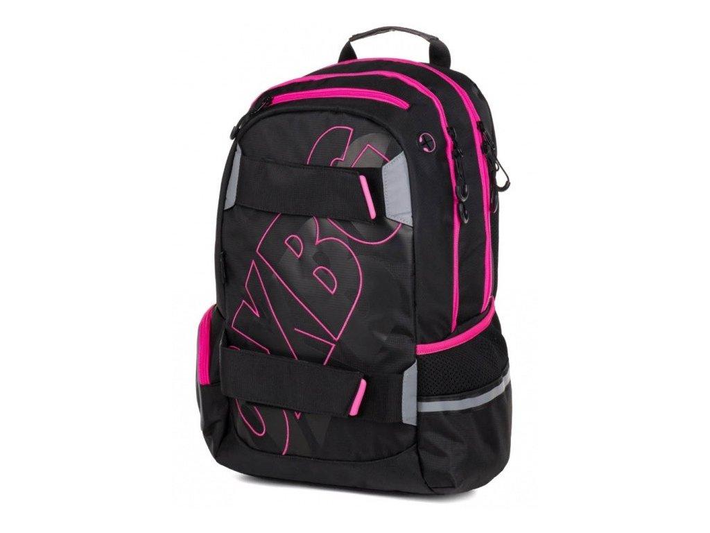 Studentský batoh OXY Sport BLACK LINE, Karton P+P, PINK