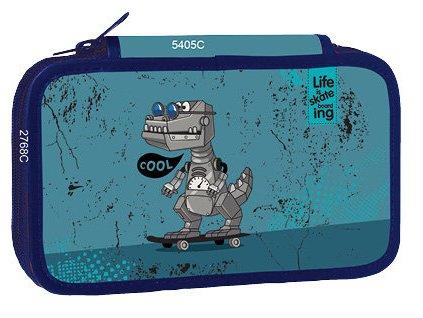 Školní třípatrový penál Stil - Cool robot