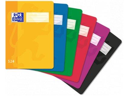 Školní sešit Oxford, A5, 524 - 20 listů, linkovaný
