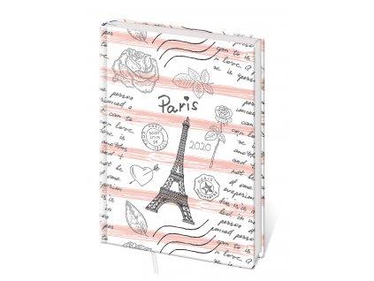 Diář Stil 2020 A5 Lyra denní Paříž