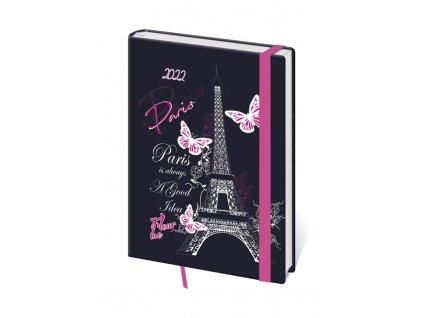 Diář Stil 2022 B6 Lyra denní Paříž