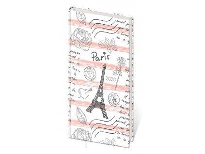 Diář Stil 2020 A6 Lyra týdenní -  Paříž