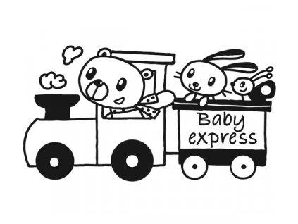 Dřevěné razítko, velikost G, baby express