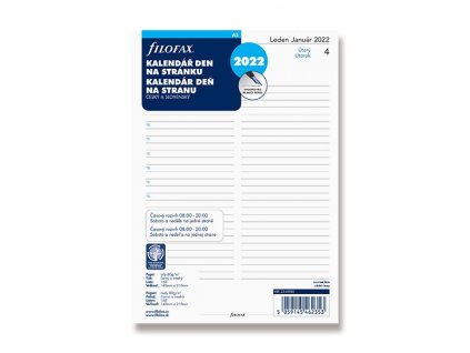 2981 2 denni kalendar 2021 napln do a5 diaru filofax