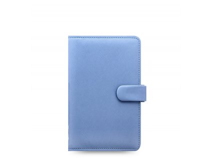 saffiano personal compact blue front