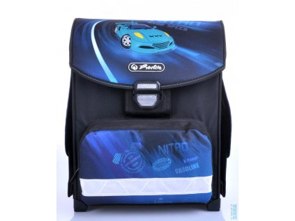 Školní aktovka Herlitz Smart - modré auto