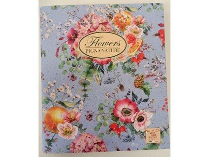 4kroužkový pořadač Pigna Nature Flowers, A5, kroužek průměr 30 mm, mix motivů
