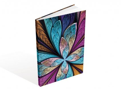 Záznamová kniha A5 MFP Barevný květ 100 listů čtvereček