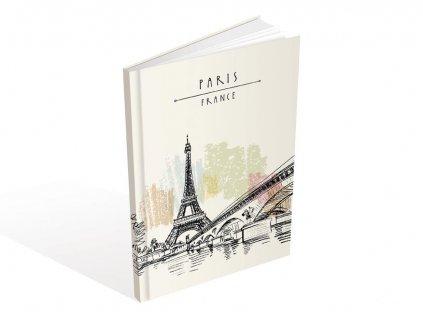 Záznamová kniha A5 MFP Eiffelova věž 100 listů