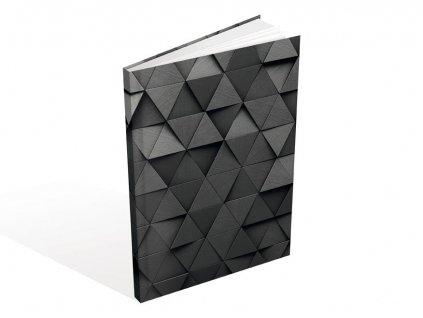Záznamová kniha A5 MFP 3D trojúhelníky 100l listů