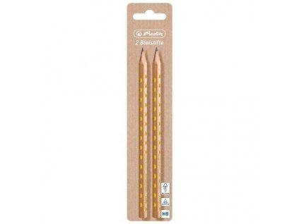 Obyčejná grafitová tužka Herlitz Pure Glam - č.2 (HB) - 2ks blistr