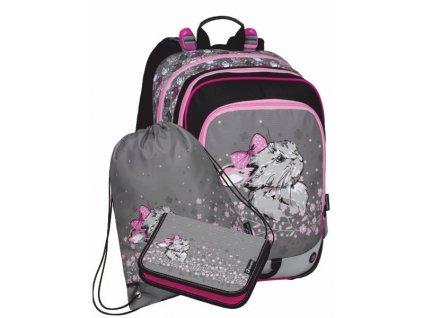 Školní batoh pro prvňáčky Bagmaster Alfa 20 B - 3 dílný set