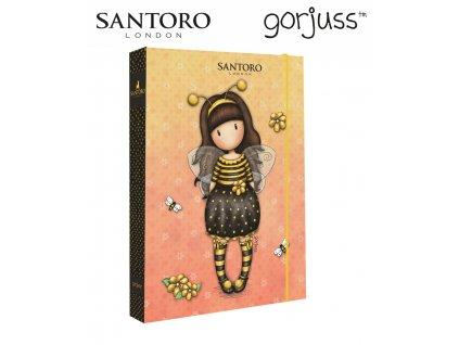 Školní box na sešity jumbo A4 Karton P+P - Santoro - Bee-loved