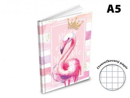 Záznamová kniha A5 MFP Plaměňák 100 listů čtvereček