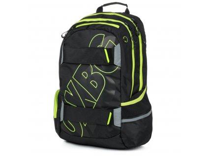 Studentský batoh OXY Sport Black line green, Karton P+P