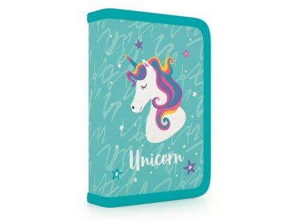 Školní penál jednopatrový, naplněný P+P Karton - Unicorn iconic