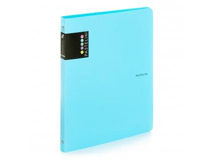 Čtyřkroužkový pořadač Pastelini Karton P+P - modrá