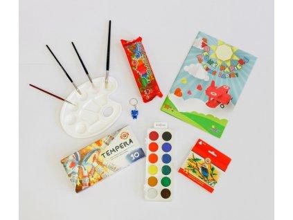 Balíček školních potřeb pro  školáka - výtvarka 3  + DÁREK ZDARMA -  Klíčenka