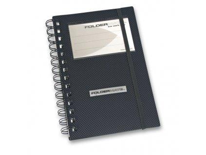 Vizitkář FolderMate Style Plus,  na 96 vizitek, černý