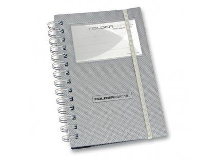 Vizitkář FolderMate Style Plus,  na 96 vizitek, stříbrný