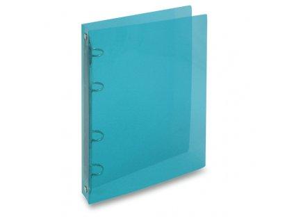 4kroužkový pořadač Transparent A5, hřbet 25 mm, modrá