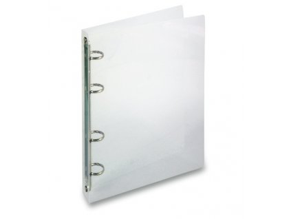 4koužkový pořadač Transparent, A4, hřbet 20 mm, transparentní