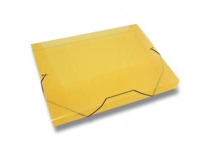 3chlopňové deskyTransparent, A4, hřbet 30 mm, žlutá