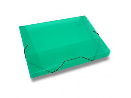 3chlopňové deskyTransparent, A4, hřbet 30 mm, zelená