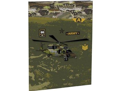 Desky na abecedu Stil A4 - Army
