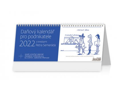 Daňový kalendář pro podnikatele 2022 s kresbami Petra Šlédra