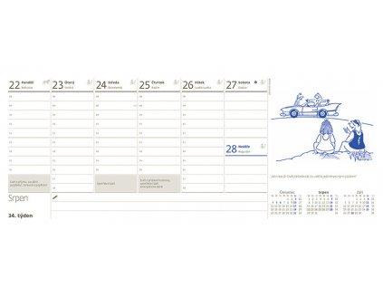 Daňový kalendář pro podnikatele 2021s kresbami Petra Šlédra