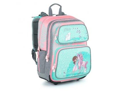 Školní batoh pro holky Bagmaster Gen 21 A  + Dárek zdrama voskovky 8,2mm  K-I-H -12 barev