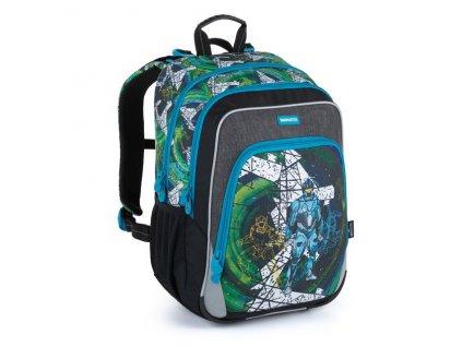 Klučičí školní batoh pro prvňáčky Bagmaster Niny 21 A  + Dárek zdrama voskovky 8,2mm  K-I-H -12 barev
