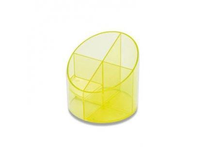 Stojánek na psací tužky Economy Transparent,  žlutá