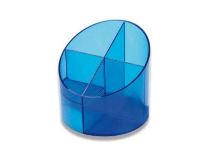 Stojánek na psací tužky Economy Transparent,  modrá