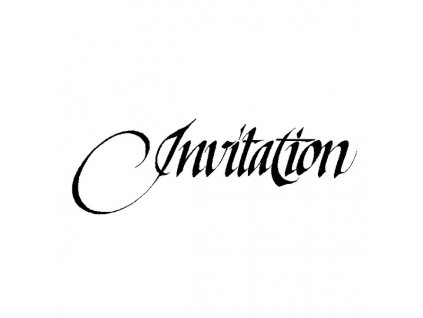 Dřevěné razítko, velikost C, invitation