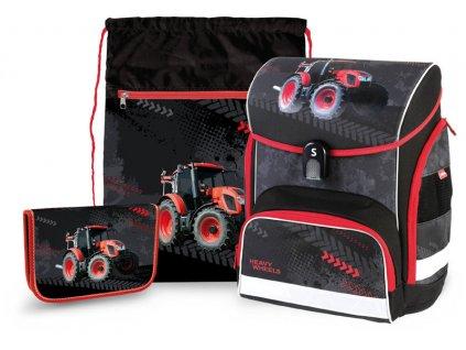 Aktovka pro prvňáčky Stil  Traktor - set  + Dárek zdrama  školní pero Tornádo se zmizíkem