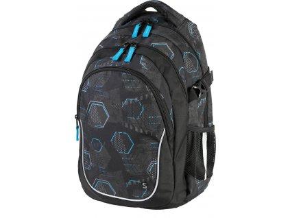 Studentský batoh Stil - Hexagon  + Dárek zdarma Gumovací liner Pilot