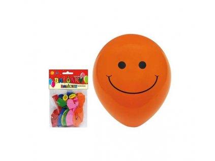 Balónek M smile 12ks sáček 23 cm mix