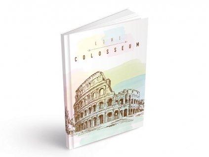 Záznamová kniha A5 MFP Koloseum 100 listů linkovaná