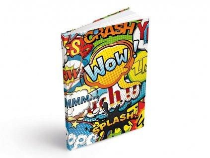 Záznamová kniha A5 MFP komiks 100 listů linkovaná