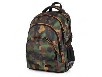 Studentský batoh OXY Scooler Camo, Karton P+P  + Liner zdarma jako dárek
