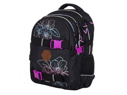 Studentský batoh OXY One Flowers, Karton P+P  + Liner zdarma jako dárek