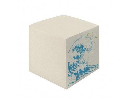 Poznámkový špalíček v krabičce - Vlna