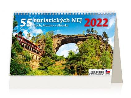 Kalendář 55 turistických nej 2022