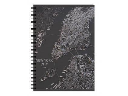Kroužkový blok A4 Stil -  New York linkovaný