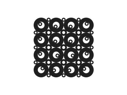 "Šablona 12""x12"" (30,5 x 30,5 cm), Retro Bubbles"