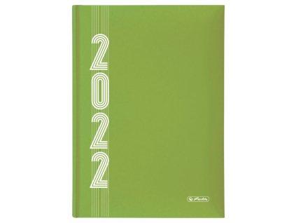 Diář Herlitz 2022 A5 denní - hráškově zelený