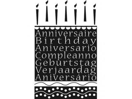 Dřevěné razítko, velikost D, narozeniny